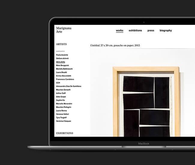 Realizzazione sito web settore arte moderna panese think digital