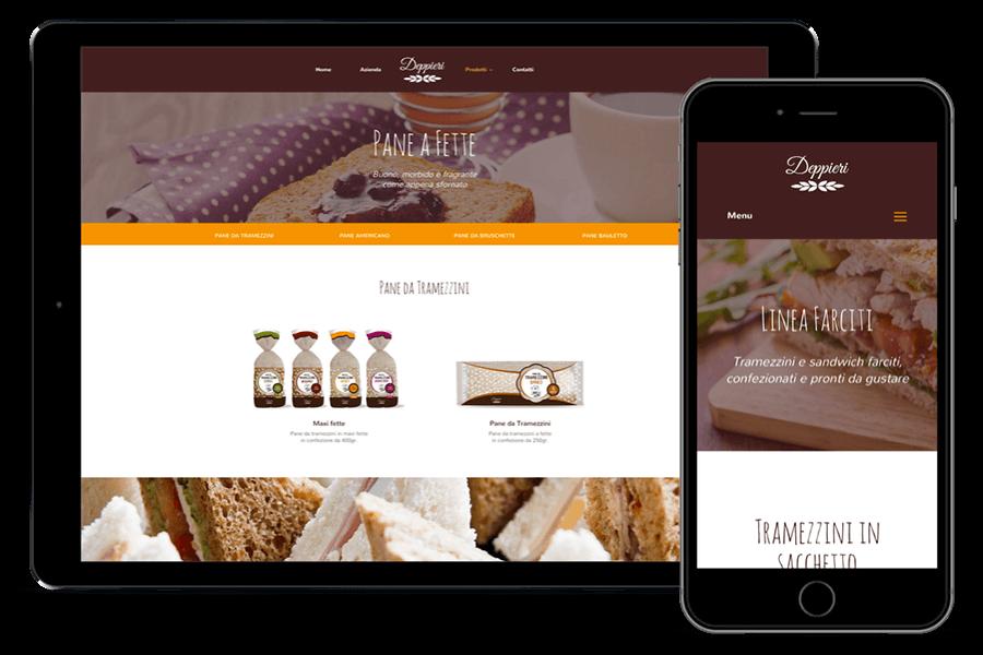 creazione sito web settore alimentare