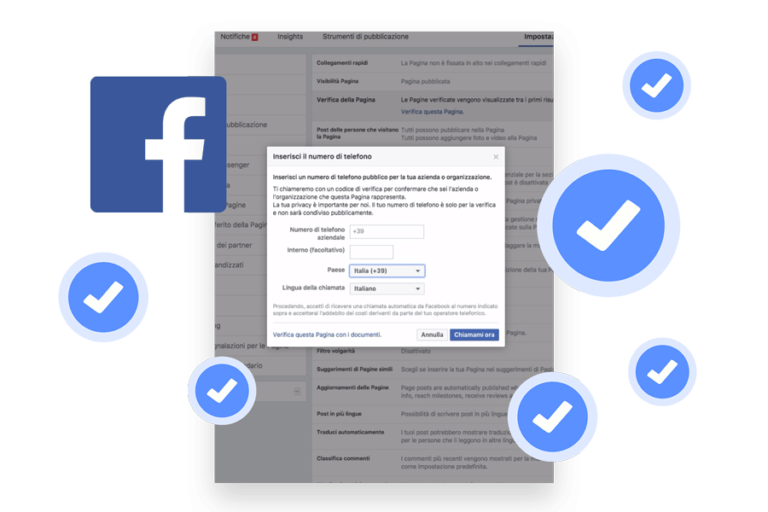 verificare pagina Facebook