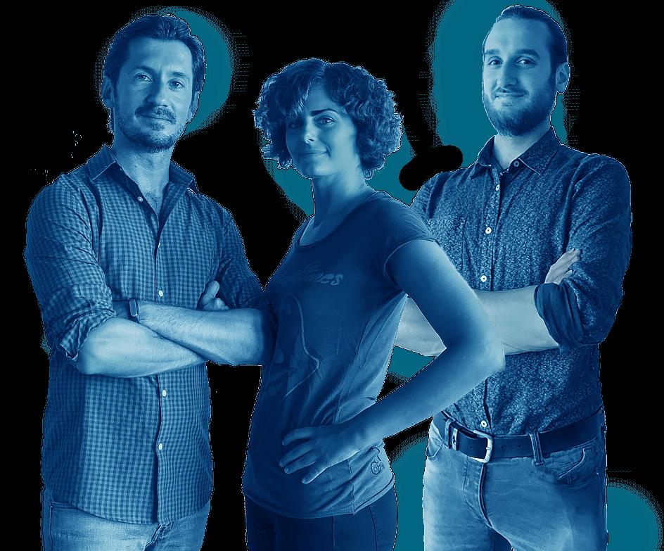 Maurizio Panese, Carlotta Parodi, Leonardo De Poli il team della web agency Panese Think Digital