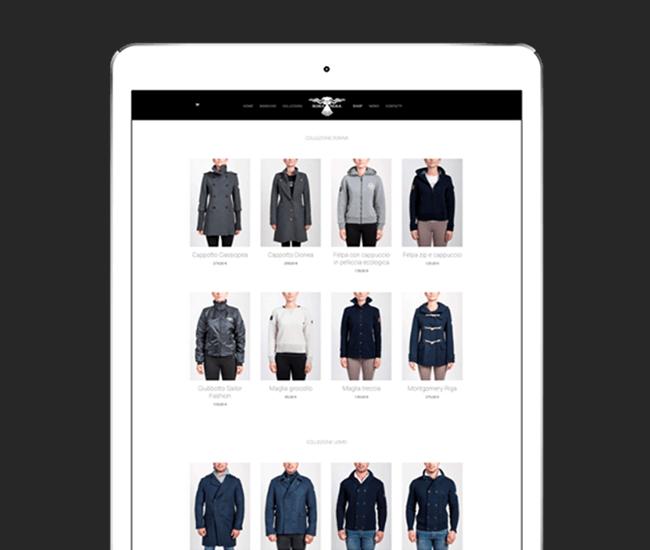 realizzazione sito fashion