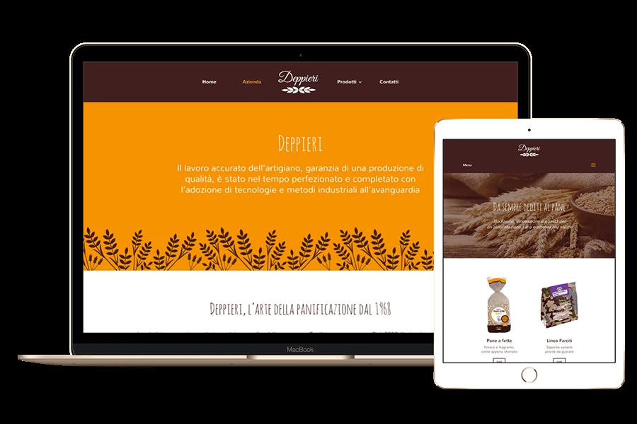 creazione sito web industria alimentare